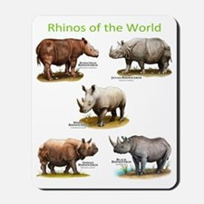 Rhinos of the World Mousepad