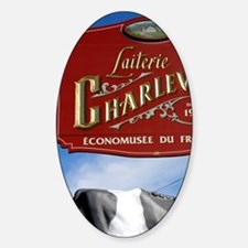 Laiterie Charlevoix (historic dairy Sticker (Oval)