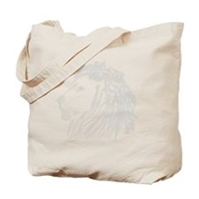 Smoke Lion White Tote Bag