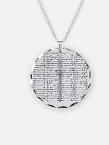 le Faivre_alchemical_symbols Necklace Circle Charm
