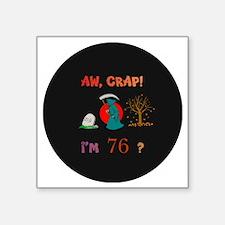 "pin-magnet 76 Square Sticker 3"" x 3"""