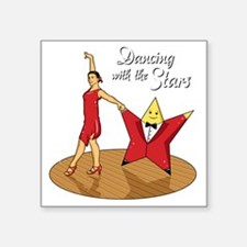"DancingWithTheStars Square Sticker 3"" x 3"""