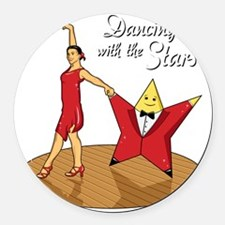 DancingWithTheStars Round Car Magnet