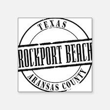 "Rockport Beach Title W Square Sticker 3"" x 3"""
