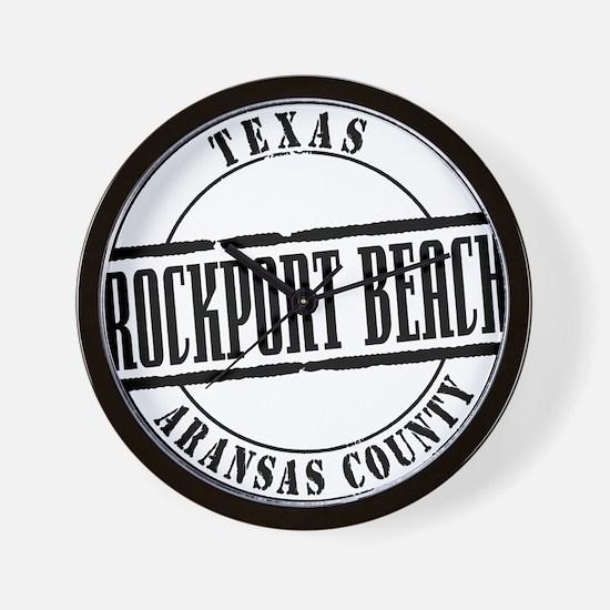 Rockport Beach Title W Wall Clock