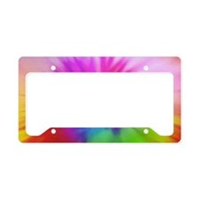 Pink Swirl Toiletry License Plate Holder