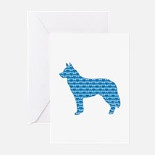 Bone Cattle Dog Greeting Cards (Pk of 10)