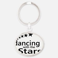 dancing with the stars Oval Keychain