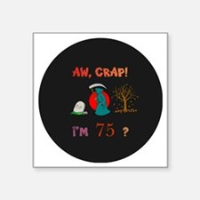 "pin-magnet 75 Square Sticker 3"" x 3"""