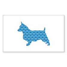 Bone Terrier Rectangle Decal