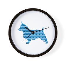 Bone Terrier Wall Clock