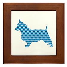 Bone Terrier Framed Tile