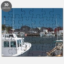 Malpeque Harbour. Fish sheds and lobster bo Puzzle
