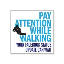 "payattention copy Square Sticker 3"" x 3"""