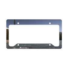 Athabasca River View and Moun License Plate Holder