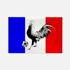 French Football Flag Rectangle Magnet