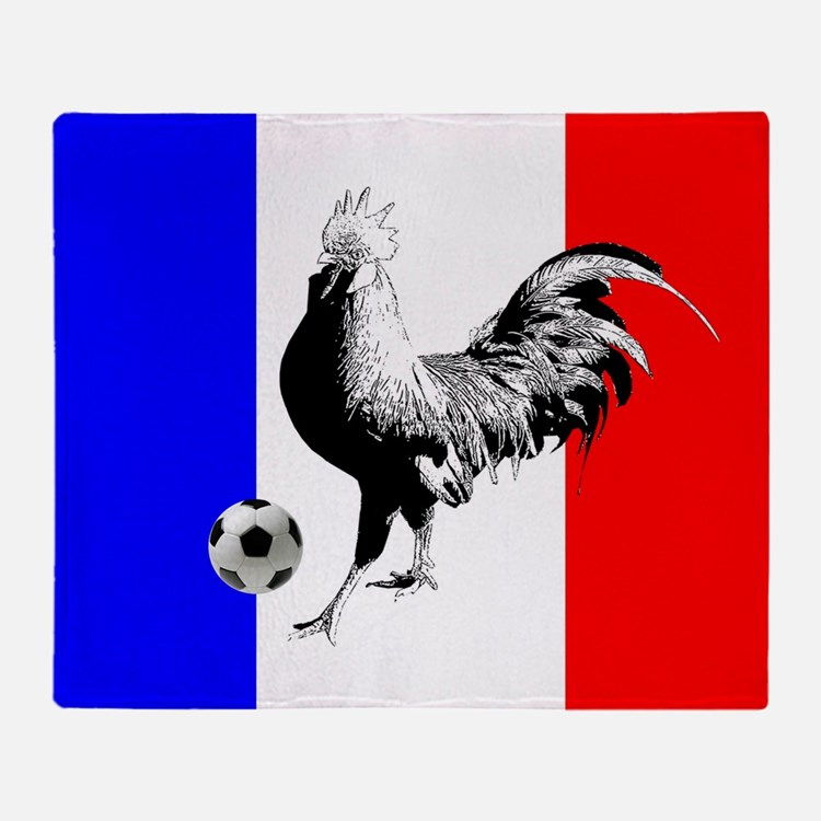 French Football Flag Throw Blanket