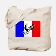 French Football Flag Tote Bag