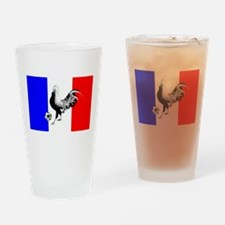 French Football Flag Drinking Glass