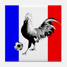 French Football Flag Tile Coaster
