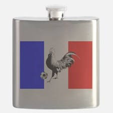 French Football Flag Flask