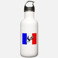 French Football Flag Water Bottle