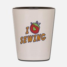 I love sewing-001 Shot Glass