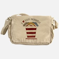 I love sock monkeys-001 Messenger Bag