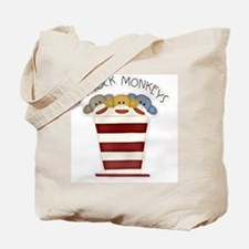 I love sock monkeys-001 Tote Bag
