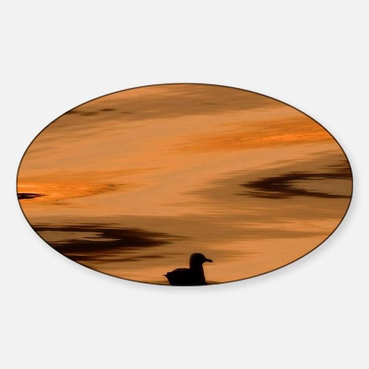Inside Passage. Silhouette of seagu Sticker (Oval)
