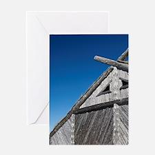 Replica of Norse boat house. Origina Greeting Card