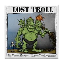 shirt_troll Tile Coaster