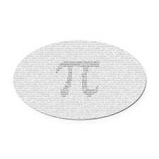 pidigits Oval Car Magnet