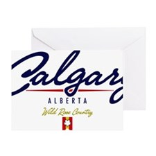Calgary Script W Greeting Card