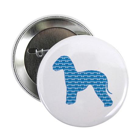 "Bone Bedlington 2.25"" Button (100 pack)"