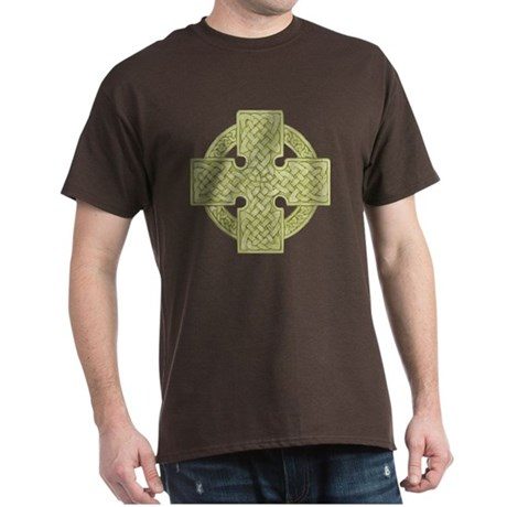 Golden Celtic Cross Dark T-Shirt