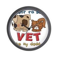 I want to be a vet Wall Clock
