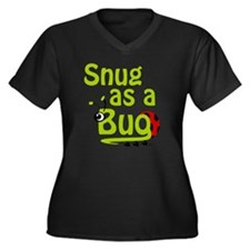 LG-Snug-Gree Women's Plus Size Dark V-Neck T-Shirt