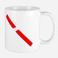 11x11 cut through red tape white on tra Small Small Mug