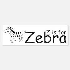 Z is for Zebra Bumper Bumper Bumper Sticker