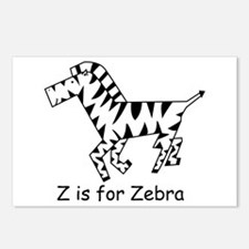 Z is for Zebra Postcards (Package of 8)