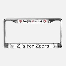 Z is for Zebra License Plate Frame