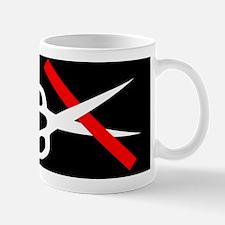 11x11 cut through red tape pillow Mug
