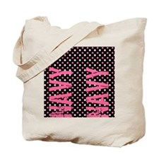 PolkaFopsPinkNavy Tote Bag