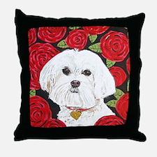 MouseLite MalteseValentine Throw Pillow
