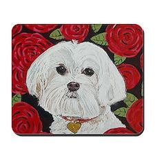 SQ Maltese Valentine Mousepad