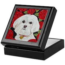 SQ Maltese Valentine Keepsake Box