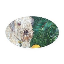 Mouse Wheaten Oval Car Magnet