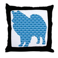 Bone Eskimo Throw Pillow