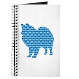 Dog american eskimo Journals & Spiral Notebooks